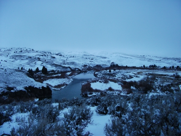 The John Day River in a fresh coat of white